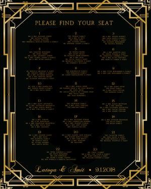 Image of Wedding Programs & Seating Chart & Soccer Poster