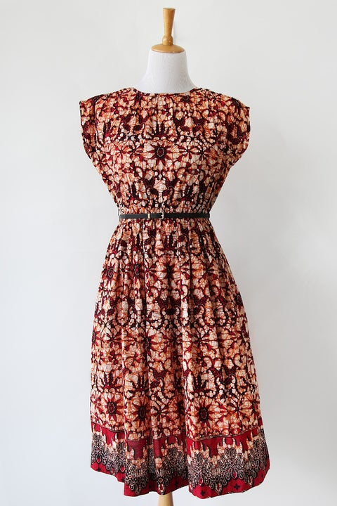 Image of SOLD Fiery Batik Dress