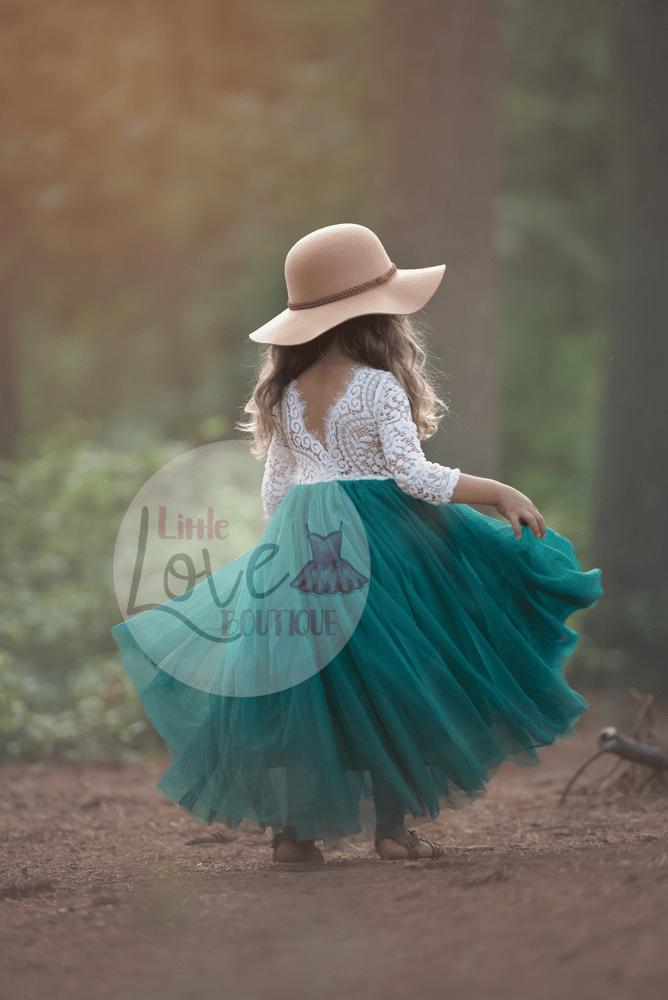 Image of Autumn/Straight Skirt/Pine Green