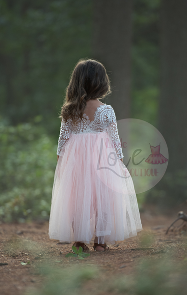 Image of Autumn/Straight Skirt/Pink Tulle