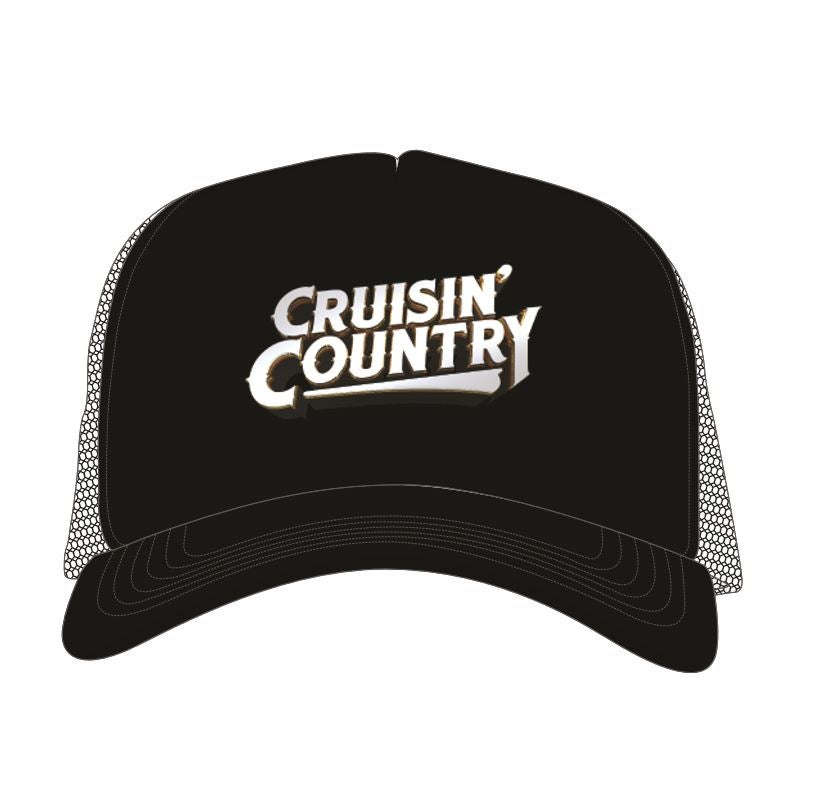 Image of Cruisin' Country Trucker Cap - Black