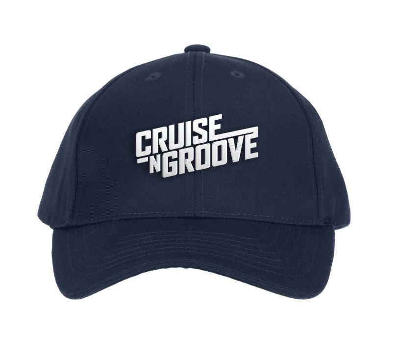 Image of Cruise N Groove Embroidered Cap - Navy
