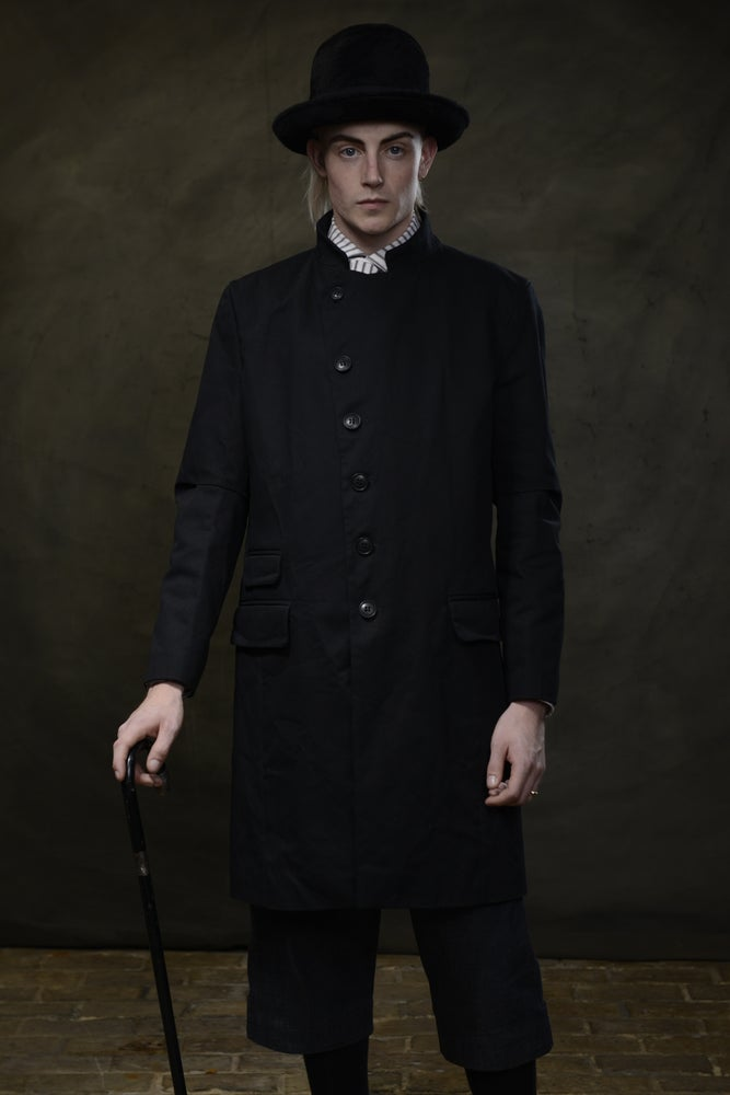 Image of EAST END COAT - BLACK £350.00