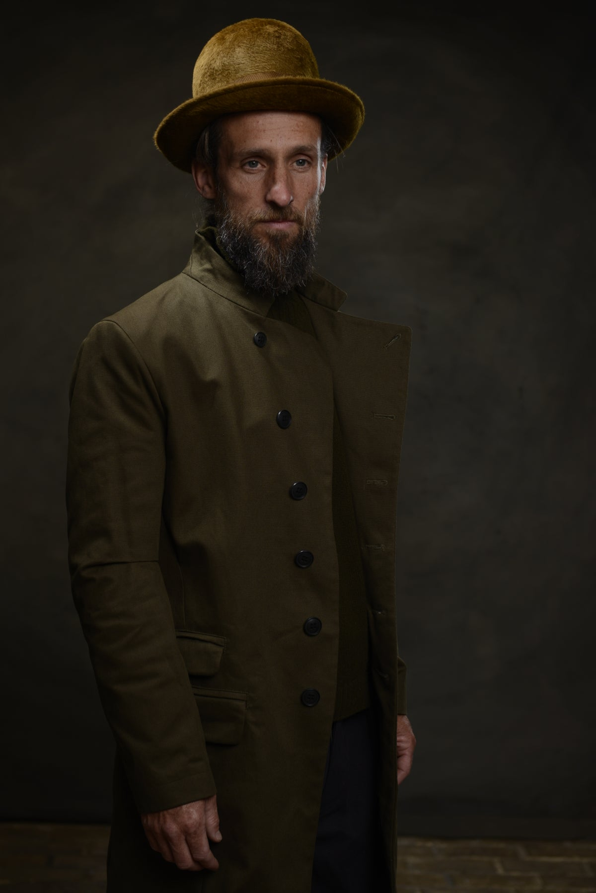 Image of EAST END COAT - OLIVE £350.00
