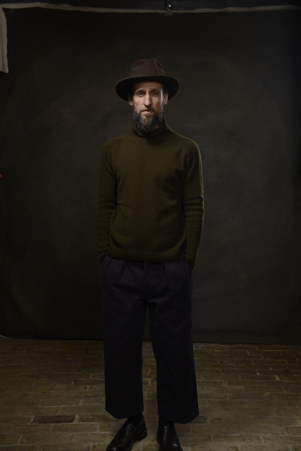 Image of PABLO ROLLNECK SWEATER - MILLITARY £160.00