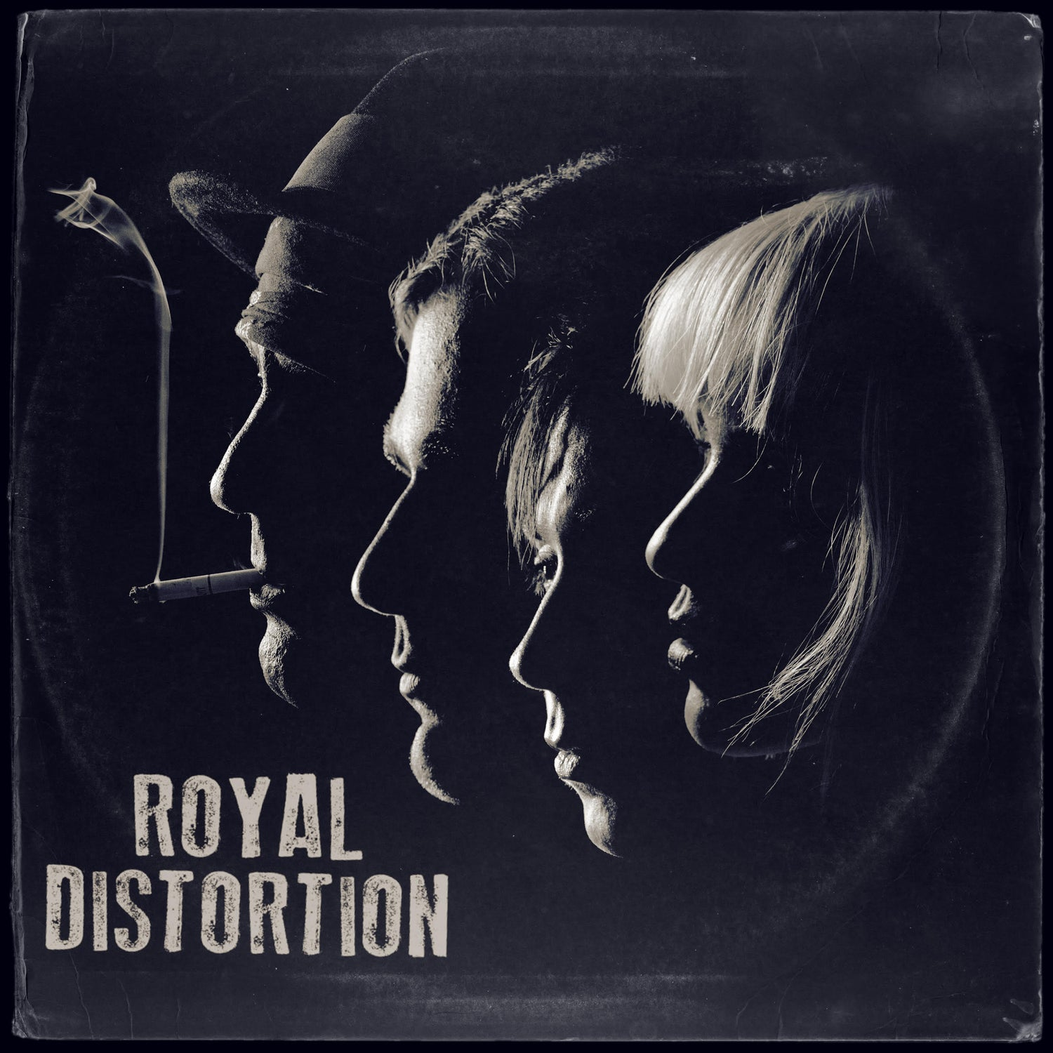 Image of Royal Distortion/Control Group Split 7 inch Tan w/Blue marble pre order version 115 made