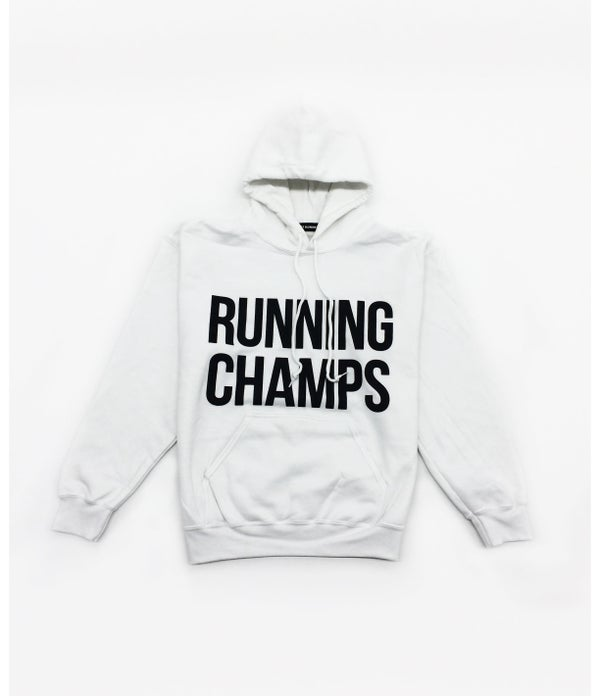 Image of ///A1 Runner x Running Champs White Hoodie