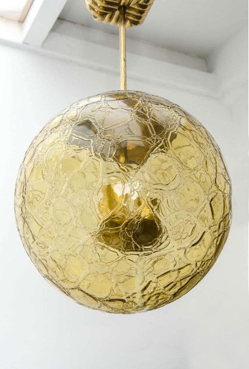 Image of Large Amber Glass Light, 1950s