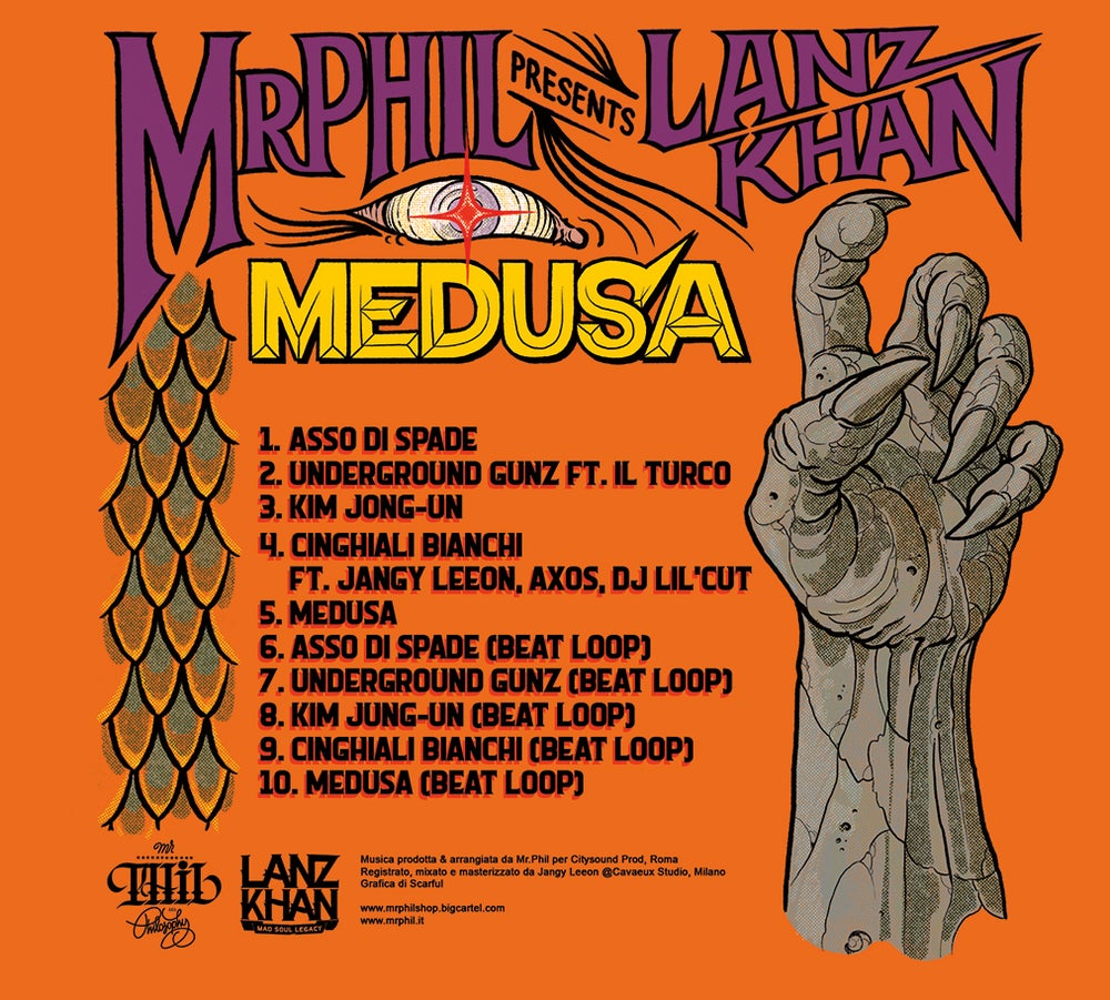 Image of CD // MR.PHIL & LANZ KHAN - MEDUSA EP