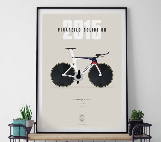 Image of NEW PRINT! Wiggo's Pinarello A3 or A4 print - by Parallax