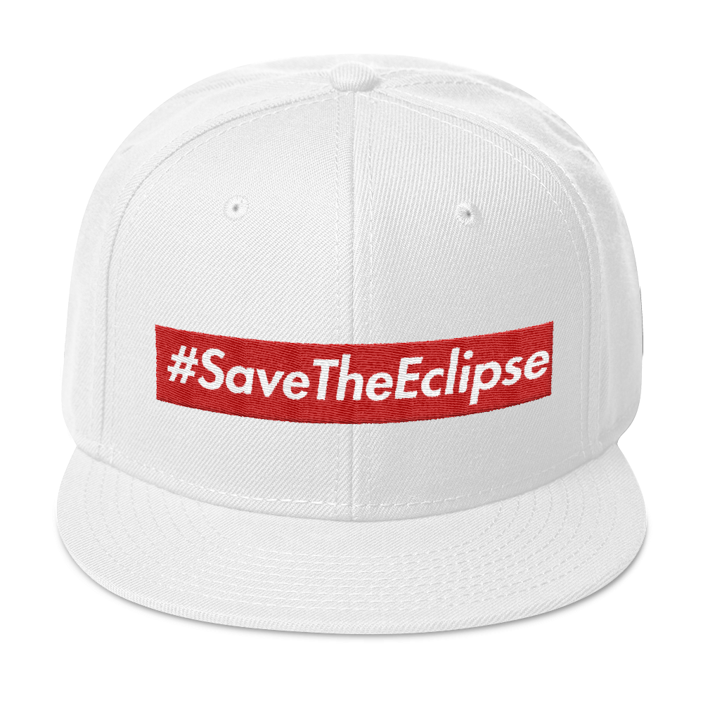 Image of #SAVETHEECLIPSE | SNAP BACK WHITE/RED