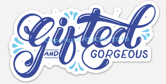 Image of Gifted and Gorgeous - Car Magnet