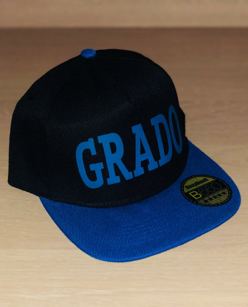 Image of Grado SnapBack cap (Black and Blue)