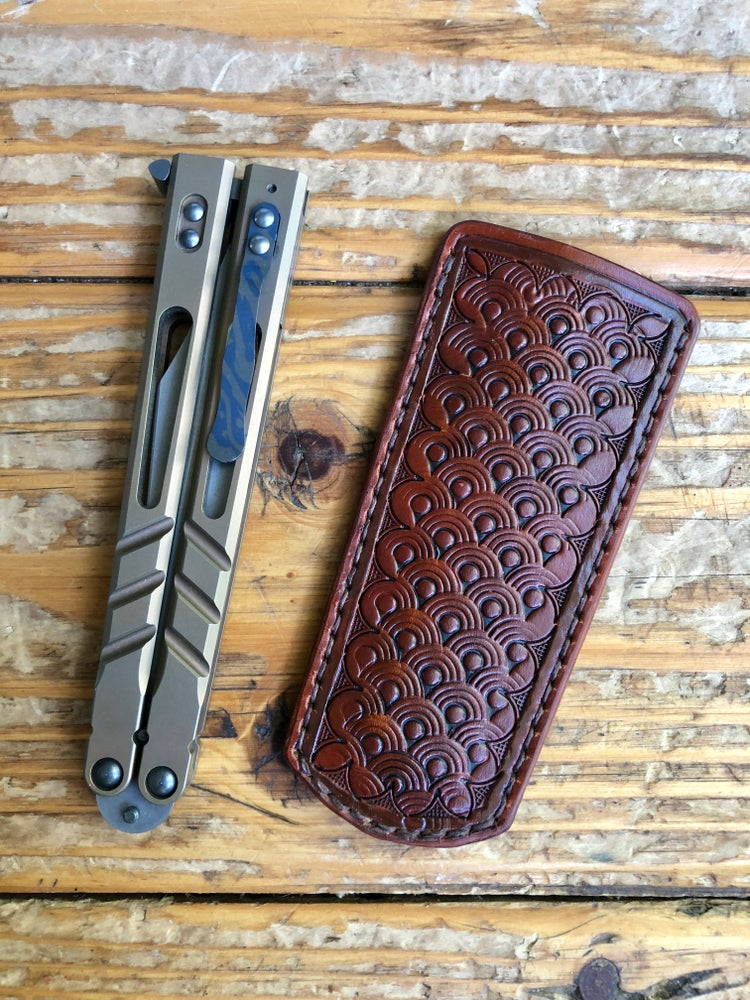 "Image of ""Cloud Flipper"" Custom Balisong Song Slip/Sheath"