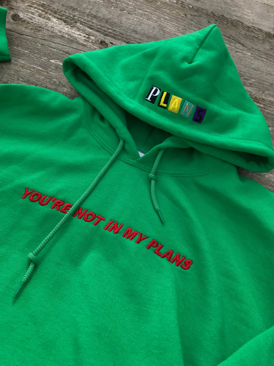 """Image of """"PLANS"""" // GREEN PULLOVER"""