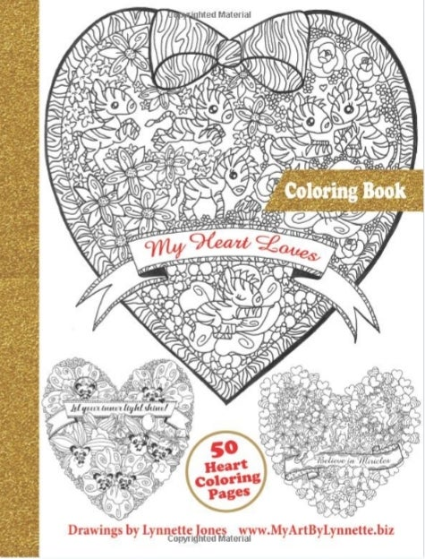 Image of My Heart Loves coloring book