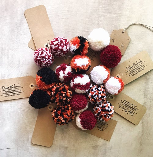 Image of Game Day Pom Pom Earrings