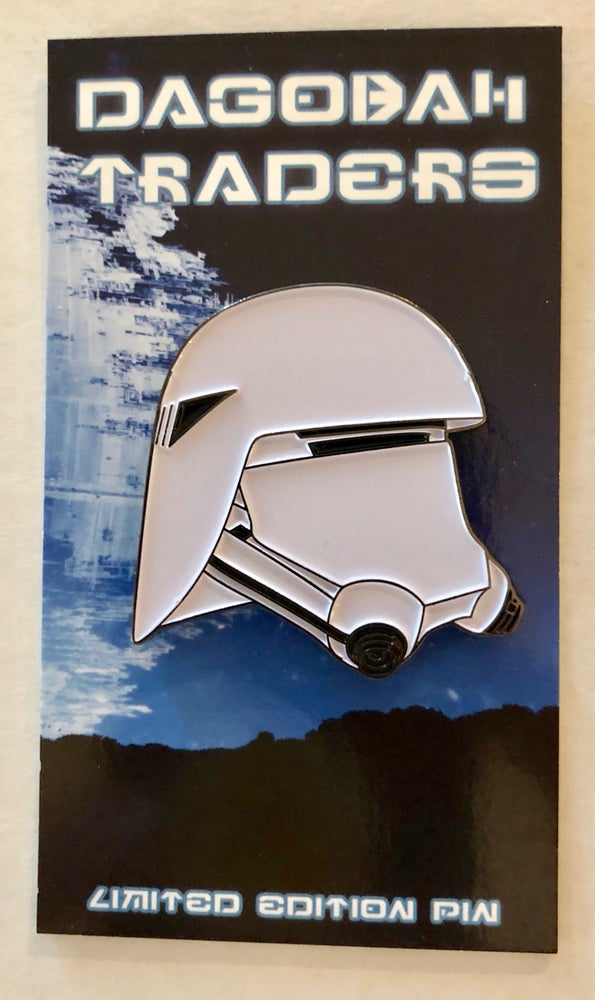 "Image of Snowie Troopie Helmet 1.5"" Lapel Pin"