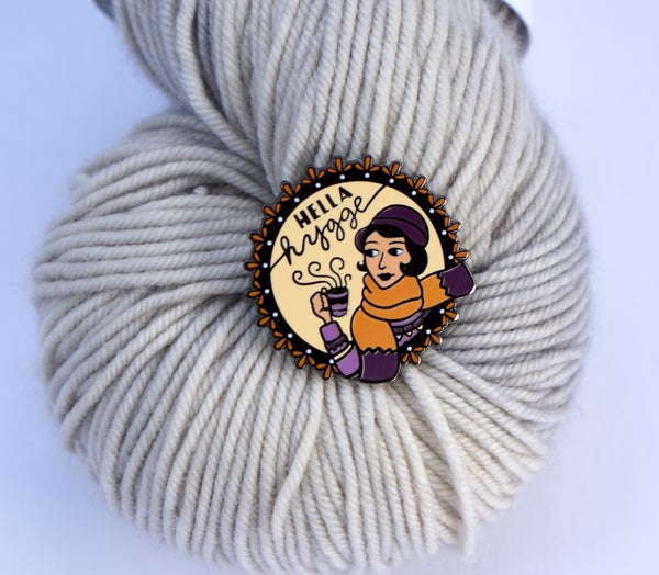 Image of Purple/Camel Hella Hygge Pin