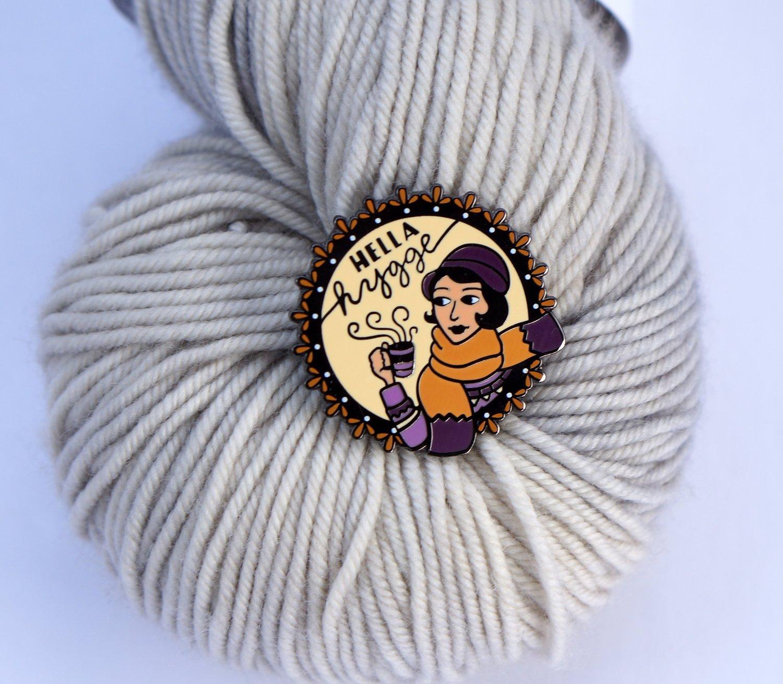 Image of Purple/Camel Hella Hygge Pin