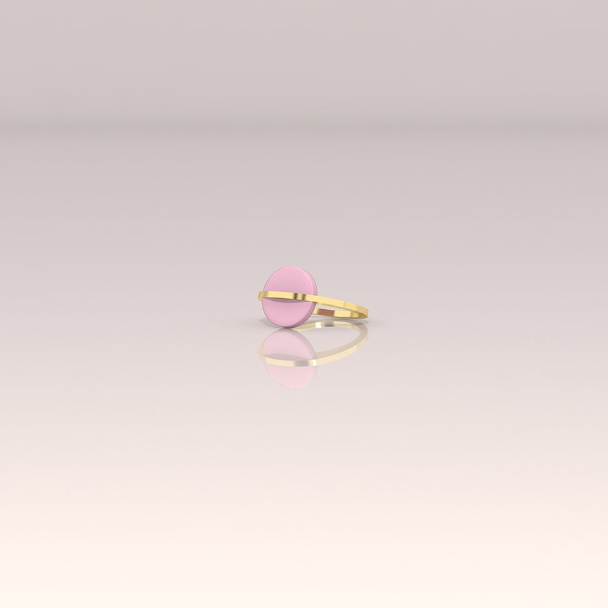 Image of Bague Infinite rose bonbon