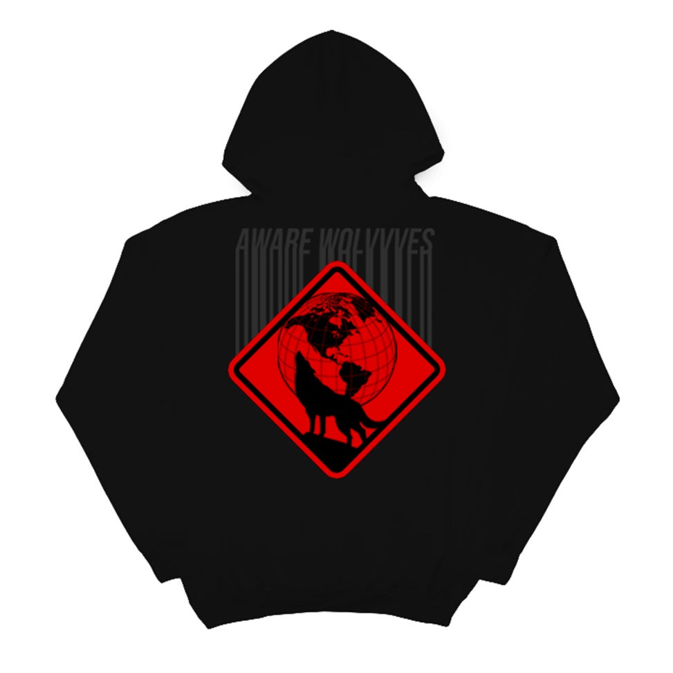 Image of AWAREWOLVVVES ULTRA RED BARCODE HOOD | EXCLUSIVE AWARE RELEASE