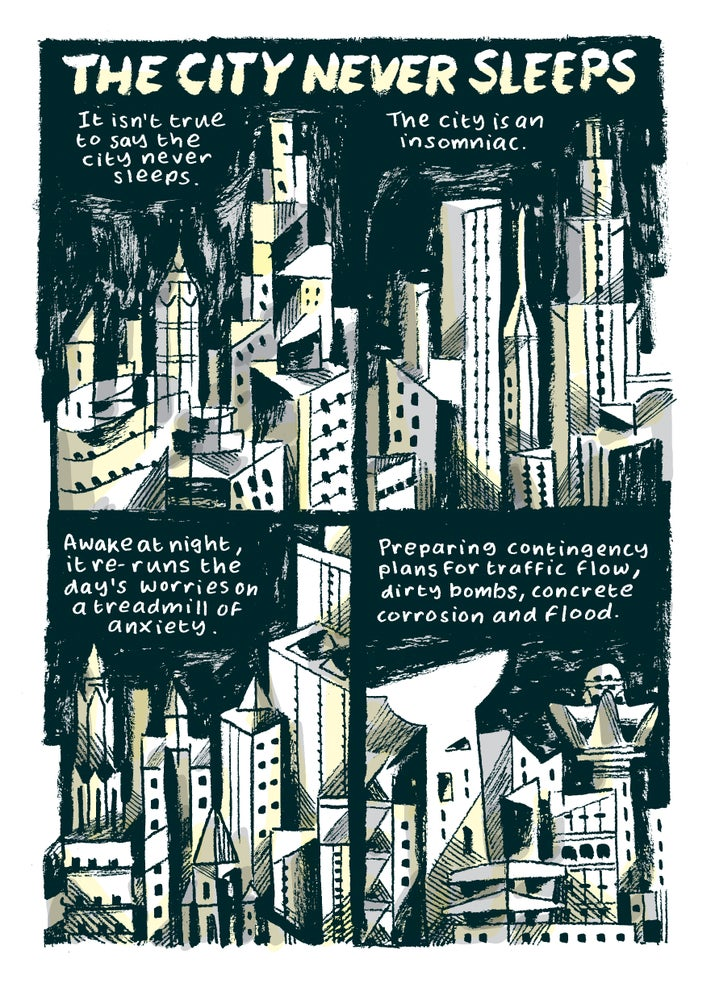 Image of The City Never Sleeps mini comic