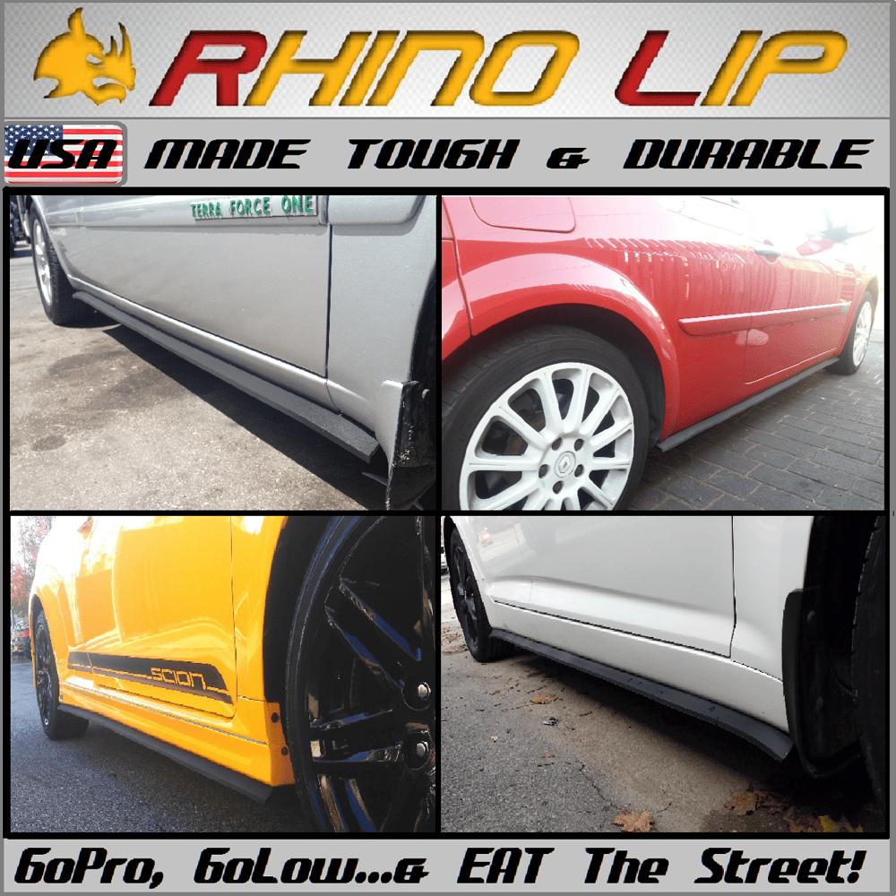 Rhino-Lip By Your Side!: L&R Side Skirt Lip Trim Splitter Kit Universal  Hardware Install