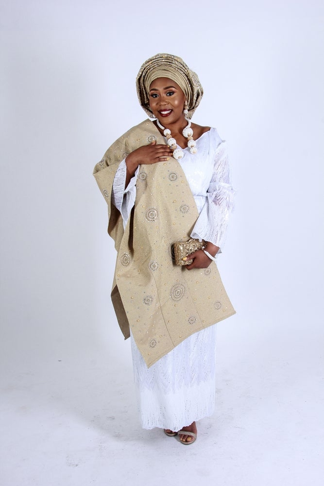 Image of Aso Oke and Lace mix