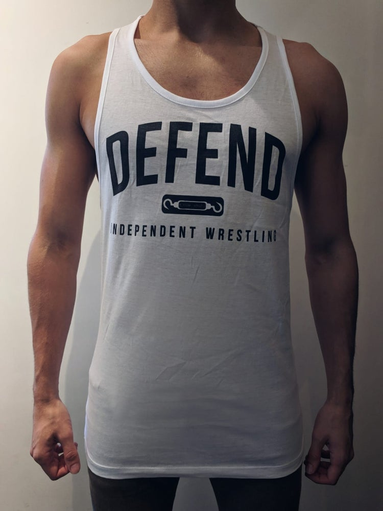Image of DEFEND White Muscle Vest