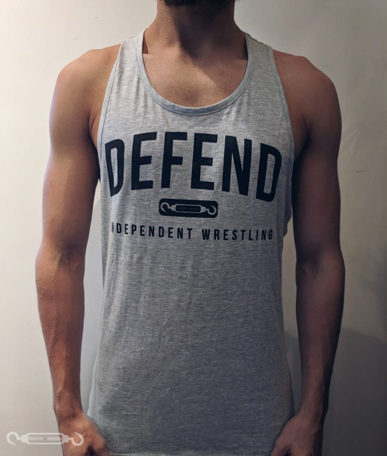 Image of DEFEND Grey Muscle Vest