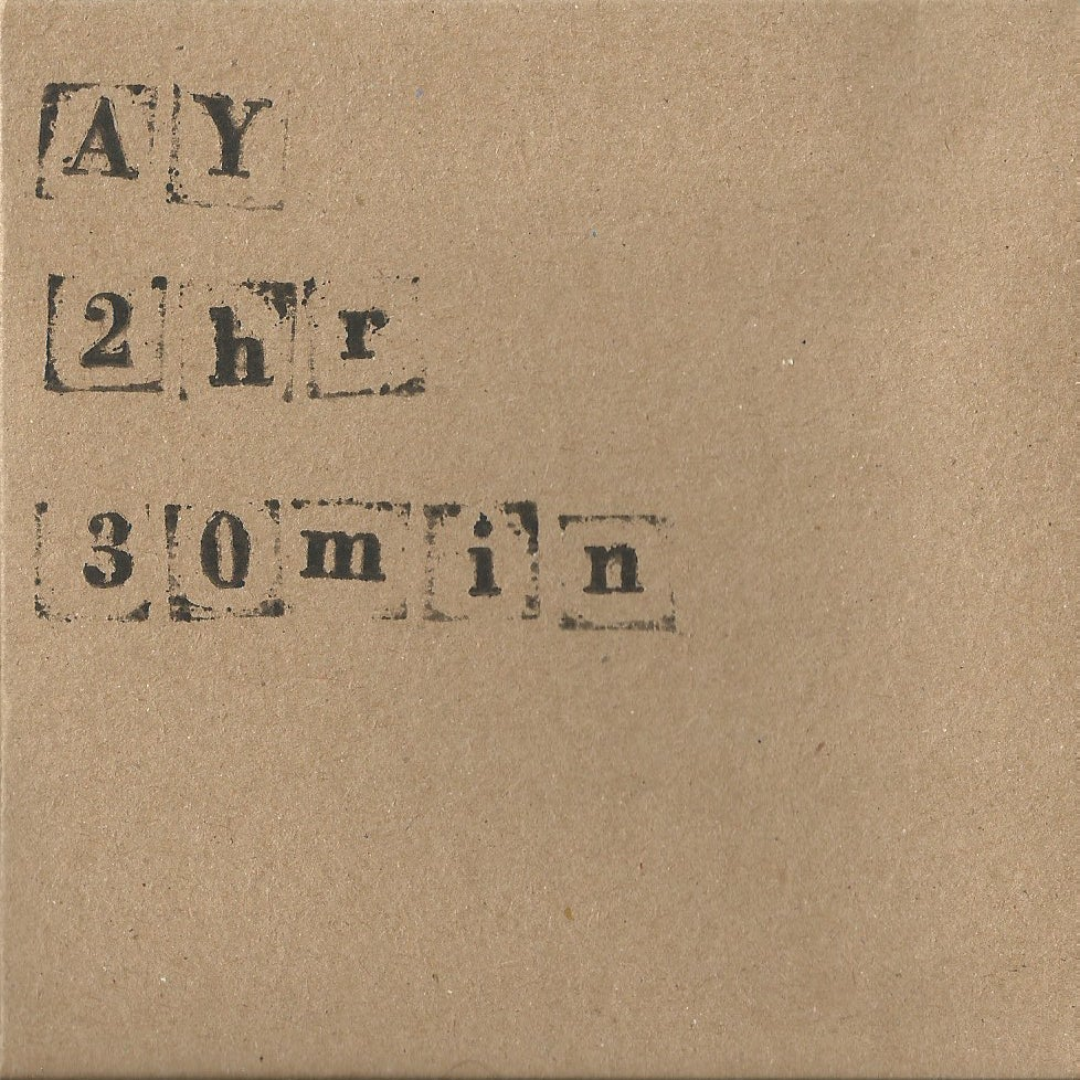 Image of 2hrs30mins Limited edition hand printed CD