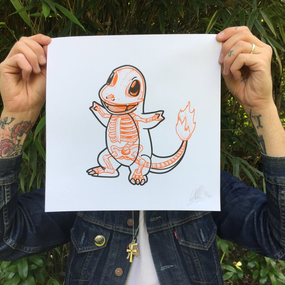 Image of Pokebones Risograph Print