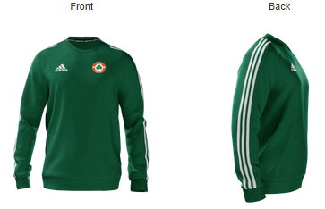 Image of YBIG Adidas green Sweat Top