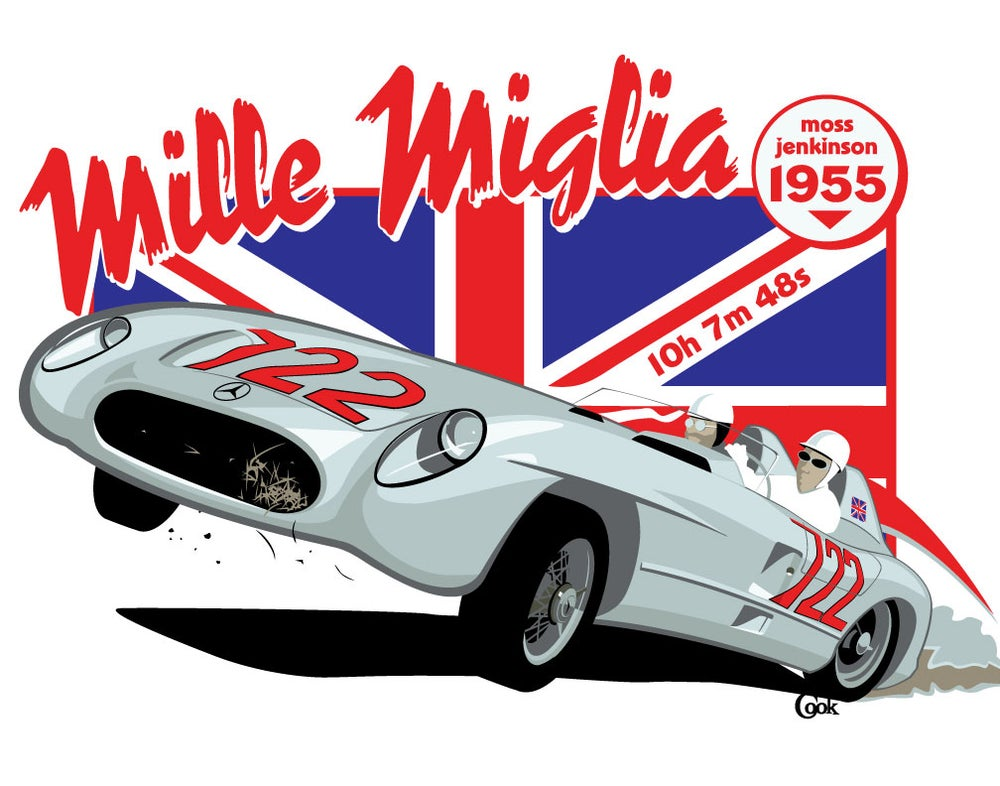 Image of Moss / Jenkinson Mille Miglia Print