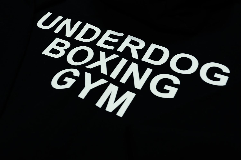 Image of Classic Underdog Zip Hoodie Black (White Logo)