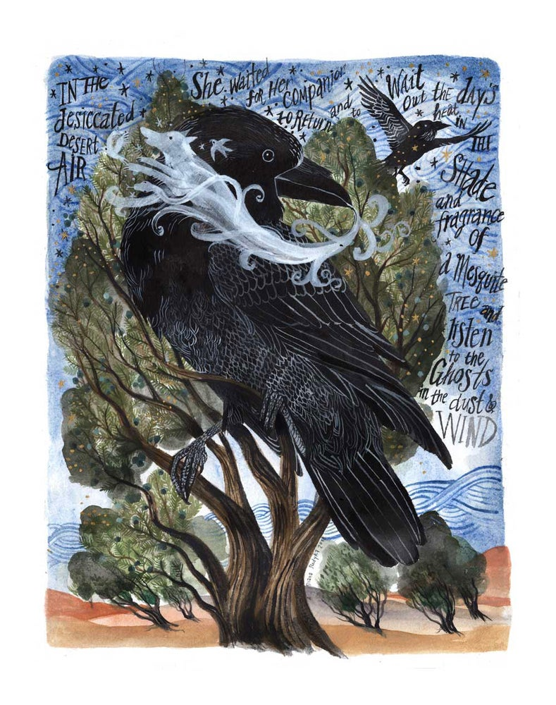 Image of Chihuahua Ravens: 11 x 14 inch Archival Inkjet Print (Giclée)