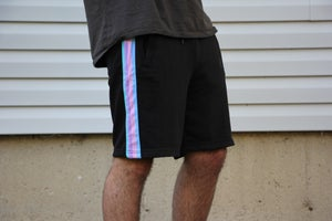 Image of Black Rainbow Sweat Shorts