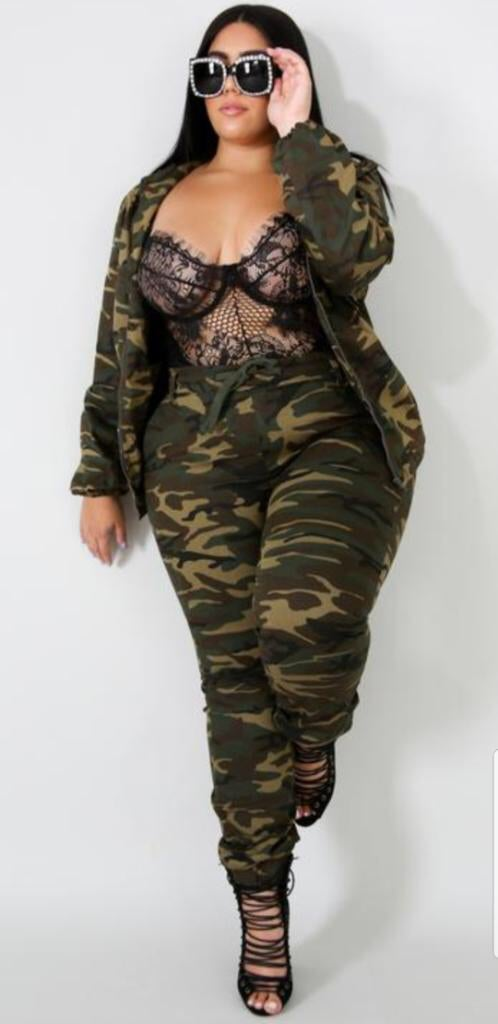 Image of Camouflage two piece set