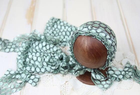 Image of Frilled Newborn Bonnet