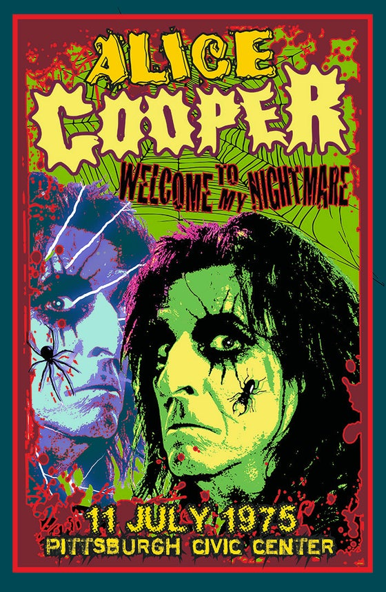 "Image of ALICE COOPER  ""Welcome to My Nightmare"" Tour 1975"