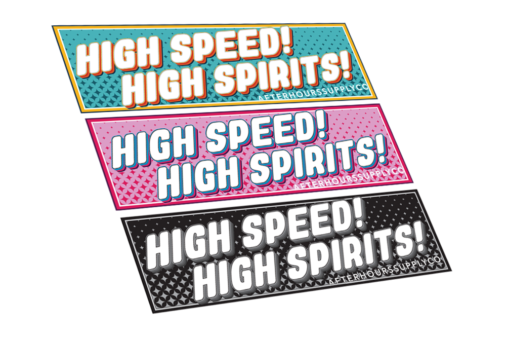 Image of High Speed! High Spirits!