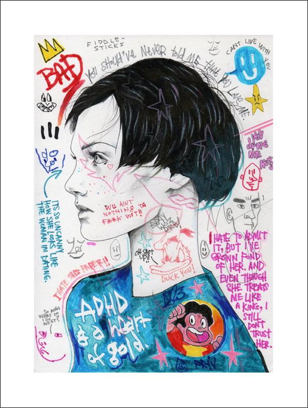 "Image of ""ADHD"" GICLEE PRINT"