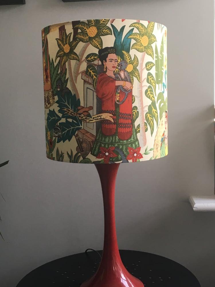 Image of Frida's Garden Tea Dye Lampshade