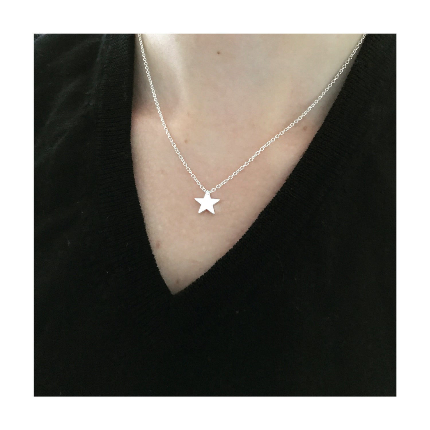 Image of Star Choker Necklace (Silver / Gold)