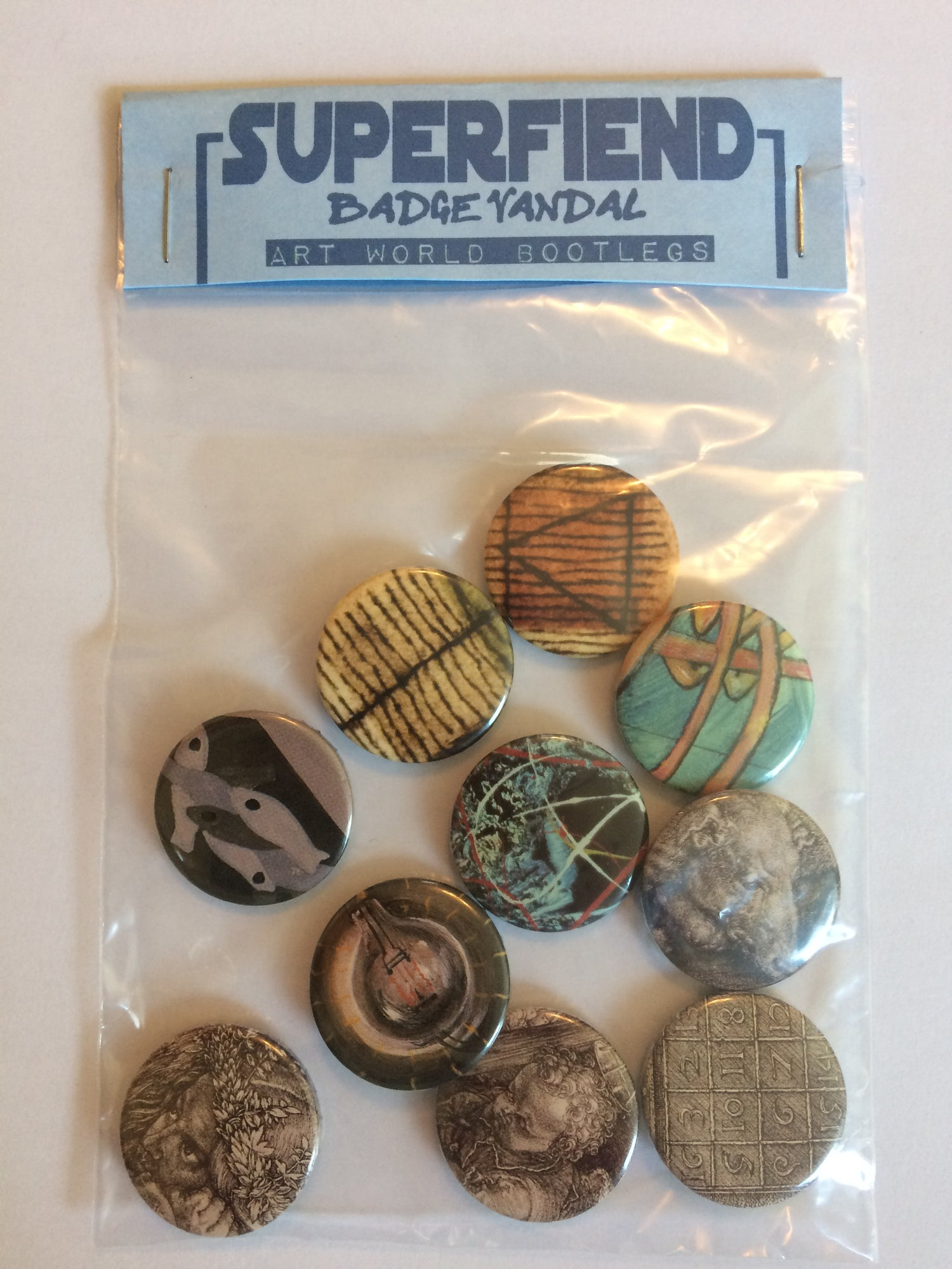Art World Bootleg Badges Pack of 10