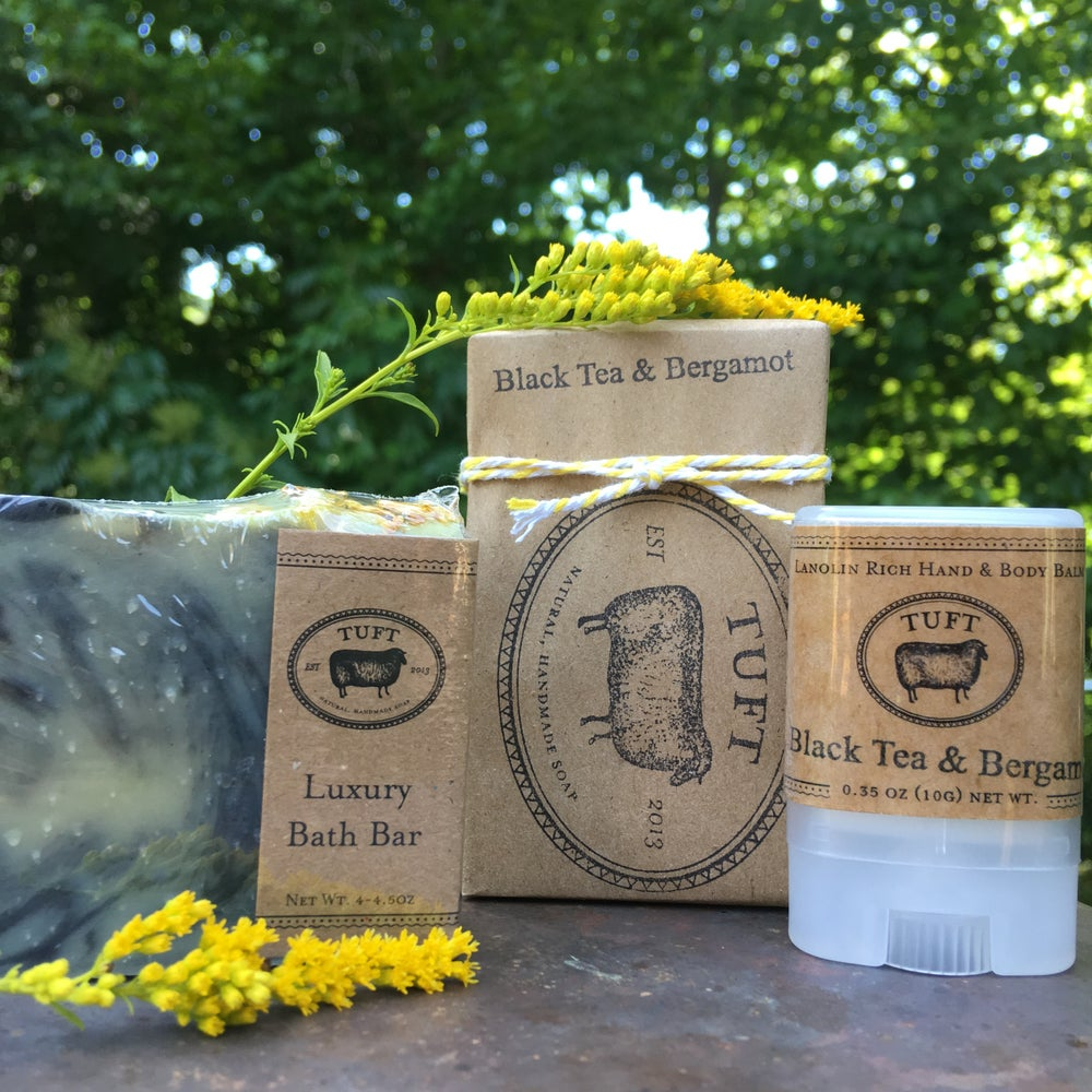 Image of NEW! Black Tea & Bergamot - Luxury Bath Bar and Natural Lanolin Wool Wash
