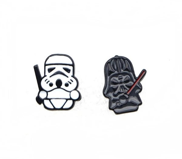 Image of Stormtrooper and Darth Vader Stud Earrings