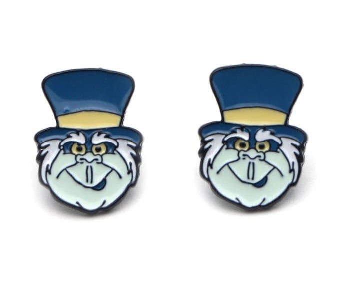 Image of Haunted Mansion Hitchhiking Ghost Stud Earrings