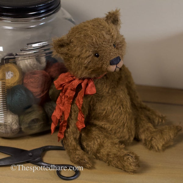 Image of KIT ~ An olde bear ~ CHOCOLATE - mohair